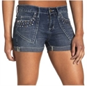 Picture of V-Blue Juniors' Cuffed Denim Short with Rhinestones